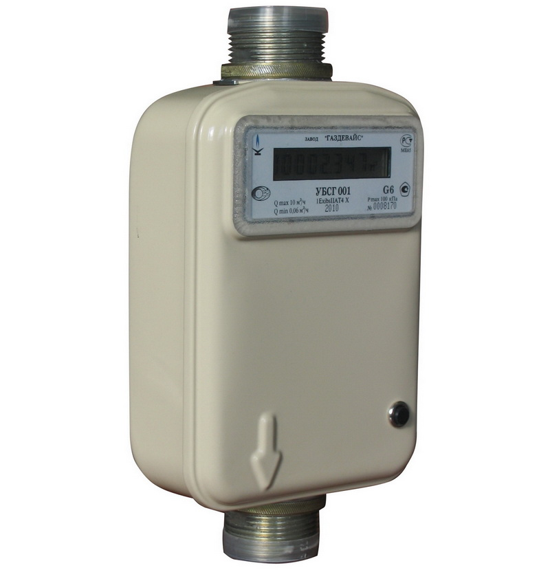 Счетчики газа УБСГ-001 G4 G6 (G-4 G-6) бытовые
